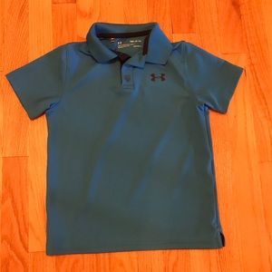 Boy's Youth Small Under Armour Blue Polo Shirt